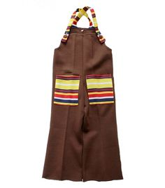 FRENCH vintage 70's / for kids / dungarees / overalls / brown colour + stripes / new old stock / size 1 year by Prettytidyvintage on Etsy https://www.etsy.com/listing/201105286/french-vintage-70s-for-kids-dungarees