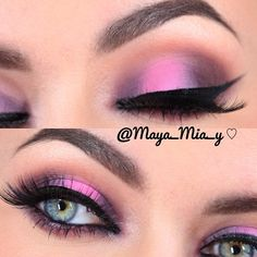 Purple, pink and brown shadows