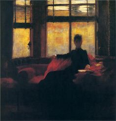 "John Lavery ""An October Evening"", 1887"