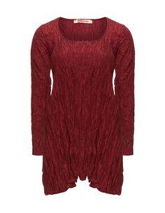 Privatsachen Silk wrinkle tunic in Bordeaux-Red