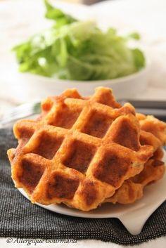 Gaufres de patates douces { sans gluten, sans lait, sans œufs} Lactose Free, Gluten Free, Sans Gluten Vegan, Sweet Cooking, Biscuits, Veggies, Menu, Breakfast, Health