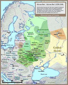 File:001 Kievan Rus' Kyivan Rus' Ukraine map 1220 1240.jpg | History of Ukraine WiKi en