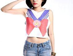Sailor Moon Crop Top Tank Shirt Cropped Tops S M L