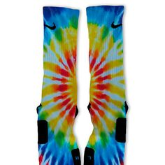 TieDye Blues Customized Nike Elite Socks by FreshElites on Etsy