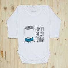 Soy tu energía positiva. Body bebé #baby #Bodysuits #funny #cute #positive #energy