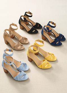 Shoes The perfect shoe for your modern classic style. Gold Prom Shoes, Fancy Shoes, Prom Heels, Me Too Shoes, Blue Sandals, Strap Sandals, Shoes Sandals, Classic Style, Modern Classic