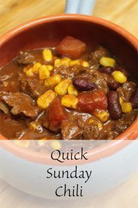 Quick Sunday Chili Recipe Chili Recipes, Soup Recipes, Cooking Recipes, Quick Recipes, Sunday Recipes, Brunch Recipes, Food Hacks, Food Tips, Healthy Breakfast For Kids