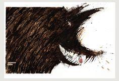 3 ilustracion lobo -by Veronica Cardona Lopez via Flickr