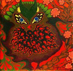 owl by Eugenia Giallousi, via Behance Spiderman, Owl, My Arts, Behance, Superhero, Painting, Fictional Characters, Spider Man, Behavior