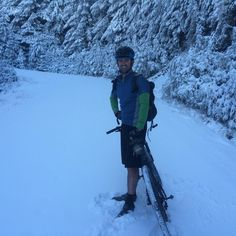 No dirt today, it was all about snow when Dan was out moutain biking