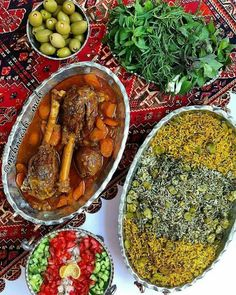 Persian Food ● Baghali Polow ba Mahiche is one of the most popular dishes in Iran, and is usually served at parties such as wedding ceremonies. The combination of rice with dills and broad beans is called Baghali Polow, and the fork tender lamb shanks which is served beside the rice is called Mahiche. These two parts served together make a sublime taste. The origin of this food dates back to Safavid dynasty that ruled Iran from 1501 to 1722, and the kings were served with rice and lamb…