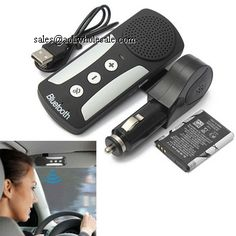 New Wireless Bluetooth Handsfree Speakerphone Car Kit With Charger Sun Visor Clip Drive Talk For iPhone For Galaxy