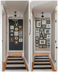 Updated Hall Gallery Wall | Little House of Four: Updated Hall Gallery Wall. Iron ore paint