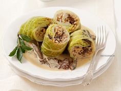 Gołąbki postne z kaszą i grzybami Sprouts, Feta, Cabbage, Vegetables, Xmas, Bulgur, Yule, Vegetable Recipes, Brussels Sprouts