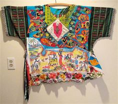Ethnic Tribal Native Peasant Embroidery Fabric CARIBBEAN SOUL SISTER Wearable Collage Folk Art   MyBonny