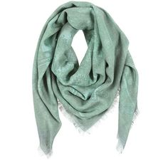 Balmain green printed scarf (€233) ❤ liked on Polyvore featuring men's fashion, men's accessories, men's scarves, scarves, accessories, sciarpe, other and balmain