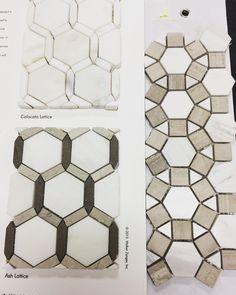 Tile shopping and loving these geo patterns || #walkerzanger #tile #interiordesigner #decor #tiledesign #onthejob #design by thegildedinterior