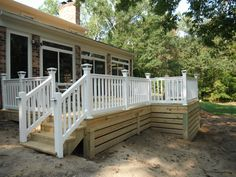 Horizontal Deck Skirting | Final photos of pressure treated deck in Chesterfield Va