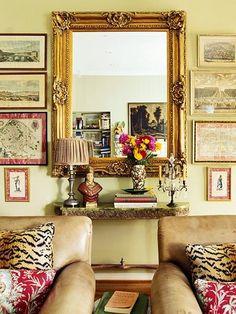 Beautiful symetrical arrangement  Splendid Sass: HANGING ART
