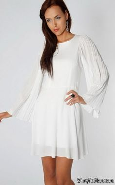 bedf361cd5 Mollie Low Back Flared Cocktail Dress In White - from The Fashion Bible UK