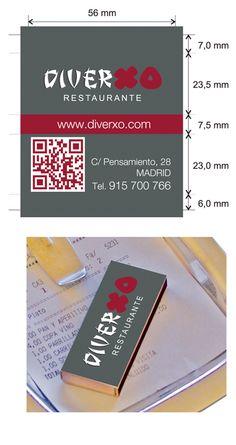 Propuesta Caja de Cerillas para Restaurante Diverxo en Madrid.