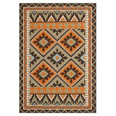 Indoor/outdoor rug with a Southwestern-inspired design.   Product: RugConstruction Material: Polypropylene...