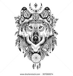 detailed wolf tattoo - Szukaj w Google