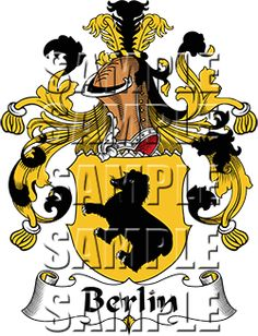 Berlin Family Crest apparel, Berlin Coat of Arms gifts