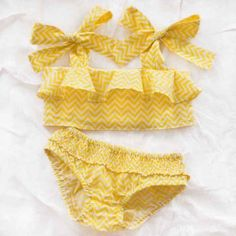 littl by lilit bikini – yellow zigzag - This website (Thumbeline) has the most adorable, unique children's clothes. Little Girl Fashion, My Little Girl, Little Girl Dresses, My Baby Girl, Baby Love, Little Diva, Kids Fashion, Beach Fashion, Toddler Outfits