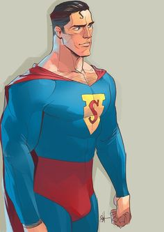 Happy Birthday Superman by Otto Schmidt Superman Art, Superman Family, Superman Man Of Steel, Batman, Rare Comic Books, Comic Book Artists, Comic Books Art, Comic Art, Otto Schmidt