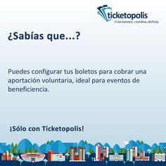¿Conoces algún evento de beneficiencia? ¡Compártele esta información! #SóloConTicketopolis #eventprofs #meetingprofs #eventplanning #evento #concierto #carrera #tips #software #boletos #tickets