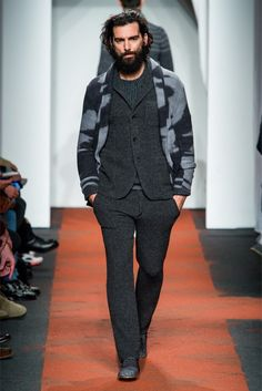 I like his overall look and that wool suit (I guess it's a suit, maybe just separates) is tailored so perfectly. (Missoni)