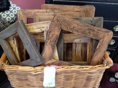 frames made from reclaimed wood