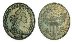 6th:1804 Class I Silver Dollar from Queller's Collection    Sold for $3,737,500    The 1804 Class I Silver Dollar from Queller's Collection was minted in 1834    and comes from the same collection as picture number four.