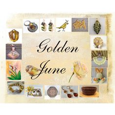 Golden June: Handmade & Vintage Gifts by paulinemcewen on Polyvore featuring Hostess and vintage