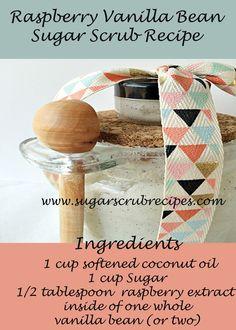Raspberry Vanilla Bean  Sugar Scrub Recipe-DIY Scrubs