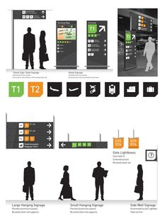 concept signage and wayfinding system for Frankfurt Airport