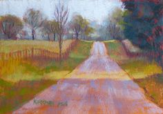 "Rita Kirkman, ""Road Sketch #30,"" 2015, pastel, 5 x 7 in - available"