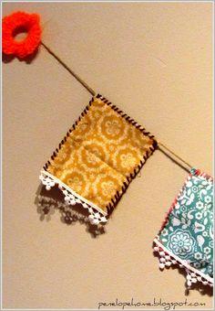 Guirnaldas on pinterest garlands birdcage decor and tela - Guirnaldas de tela ...