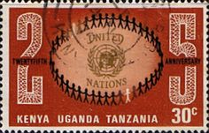 Postage Stamps Kenya Uganda Tanzania 1970 United Nations SG 284 Fine Used Scott 221 Other KUT Stamps HERE