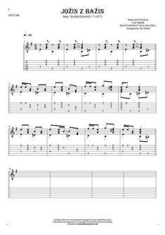 Jožin z bažin sheet music by Banjo Band Ivana Mládka. From album Nashledanou! (1977). Part: Notes and tablature for guitar solo (fingerstyle).