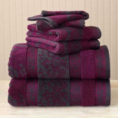 better homes and gardens thick and plush 6 piece jacquard cotton bath
