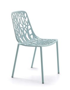 FOREST collection. Chair Light Blue / Sedia Azzurro Pastello. FAST IN_OUT_ALUMINIUM