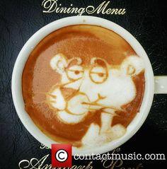 Pink Panther-  Coffee Latte Art at Disney