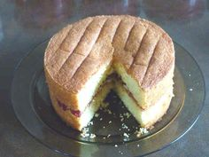 A very light moist cake, just like a normal Victoria sponge, but wheat and gluten free! Use margarine rather than butter as it is lighter.
