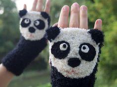 Panda Fingerless Gloves - Free Shipping Worldwide