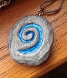 DIY clay charm i made of a Hearthstone (from World of Warcraft)! Super easy!
