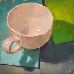 Carol Marine's Painting a Day: Simple Cup 4