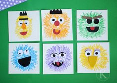 Sesame Street Crafts - I will def. be doing a lot of these once CJ is a bit older. Sesame Street Crafts, Sesame Street Party, Sesame Street Birthday, Monster Activities, Craft Activities For Kids, Preschool Crafts, Activity Ideas, Craft Ideas, Crafts For Kids To Make