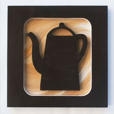 Quadro Café Premium I ? Trio  - 3 Quadros decorativos que harmonizam as paredes da sua sala, cozinha ou escritório, feitos à mão.    - Com desenhos criativos de bule, xícara e grãos de café esculpidos em relevo no mdf, pintura acrílica e esmalte.    - Medidas de cada quadro:   Largura: 30 cm  Com...